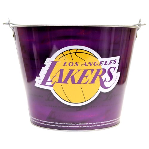 NBA Full Color Team Logo Aluminum Beer Bucket (Los Angeles (Lakers Party Decorations)
