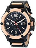 Joshua & Sons Men's JS75RG Analog Display Swiss Quartz Black Watch