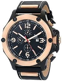 Joshua & Sons Men's JS75RG Analog Display Swiss Quartz Black Watch