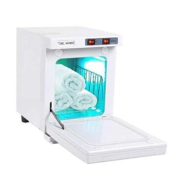 2 en 1 Caliente Esterilizador de Toalla 5L UV Toalla Calentador Esterilizador Gabinete SPA Herramienta Cabello Belleza Salón Casa Desinfectante ...