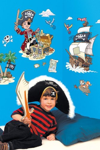 FunToSee Pirates Boys Nursery and Bedroom Wall Decals, Priate for $<!--$16.00-->