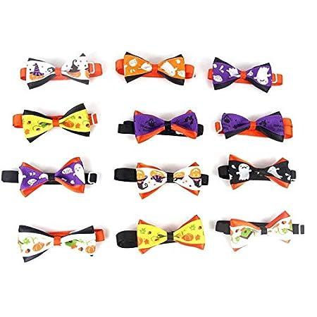 ArgoBa Cute Halloween Pets Gatos Perros Corbata Accesorios de Boda Perros Bowtie Collar Decoraci/ón navide/ña Grooming Necktie