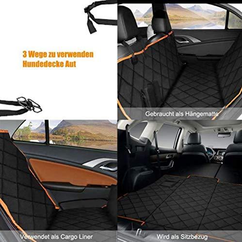 Installazione semplice facile pulire Pet coprisedili Universale Camion SUV Trucks Tutte Le Automobili 600D tessuto Oxford Cuscino per seggiolino auto impermeabile e confortevole nero 137x147CM