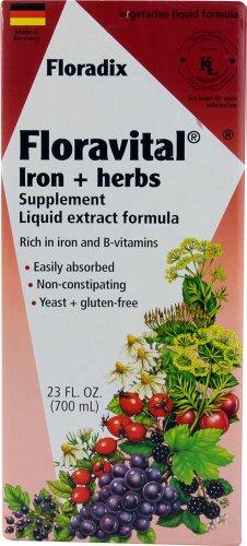 Salus-Haus Floravital Iron Plus Herbs, 23 Fluid Ounce