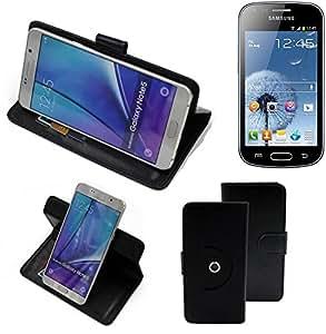 360° Funda Smartphone para Xiaomi Tech Mi 4i, negro | Función de stand Caso Monedero BookStyle mejor precio, mejor funcionamiento - K-S-Trade