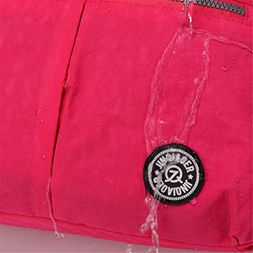 Bolso cruzado de Tiny Chou, resistente al agua, de nailon, bolsa con correa de hombro desmontable Morado - morado