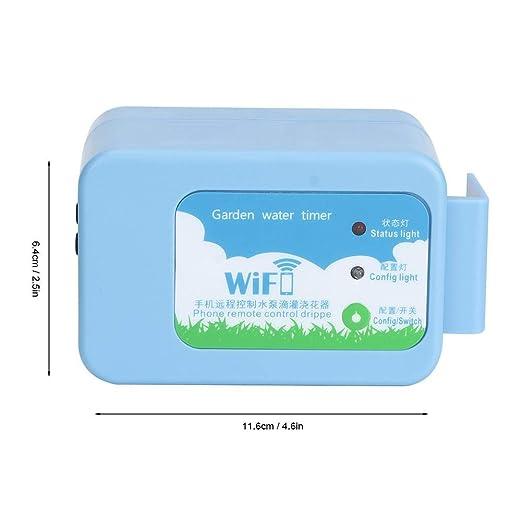 Zouminy Temporizador automático de riego de Jardines, Wi-Fi ...