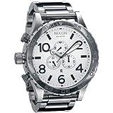 [ニクソン] NIXON 腕時計 メンズ 51-30 クロノグラフ ホワイト×シルバー メンズウォッチ 男性用 A083-100 A083100 [並行輸入品]