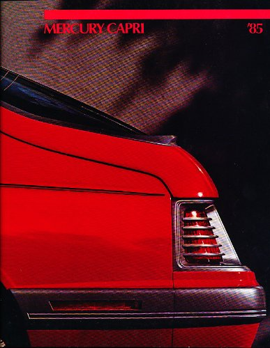 1985 Mercury Capri 14-page Original Sales Brochure - RS