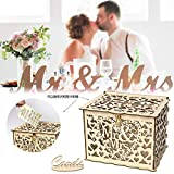 Weite Vintage Style Wooden Hollow Wedding Card