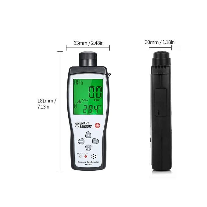 Fesjoy Detector de Amoníaco Medidor de gas de Portátil digital Automotriz Monitor de Probador de gas de Detector NH3: Amazon.es: Bricolaje y herramientas