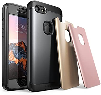 info for 72053 729fe iPhone 7 Case, iPhone 8 Case, SUPCASE Water Resistant Full-Body Rugged Case  with Built-in Screen Protector with 3 Interchangeable Covers for Apple ...