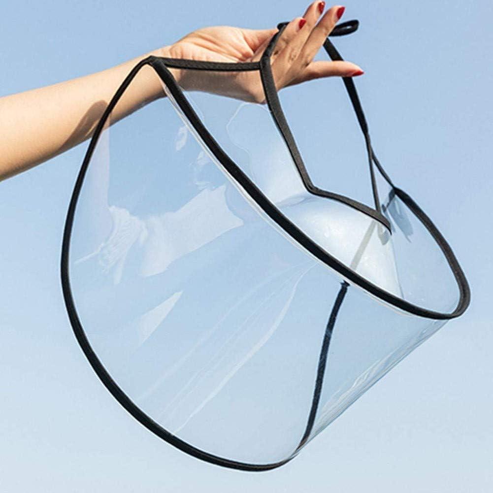 protezione anti-inquinamento Adulti Beige antipolvere portatile trasparente pieghevole Protezione per il viso in PVC unisex per berretto antivento