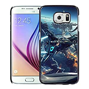 Unique DIY Designed Cover Case For Samsung Galaxy S6 With Spaceship Heading To The Floating City Fantasy Mobile Wallpaper Phone Case