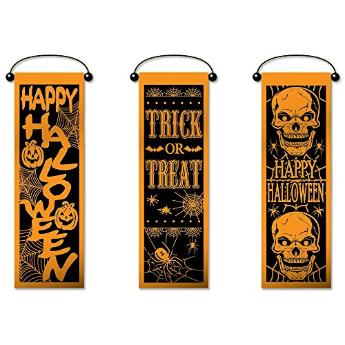 [Set of 3 Halloween Wall Banner Decorations] (Infant Halloween Costumes Etsy)