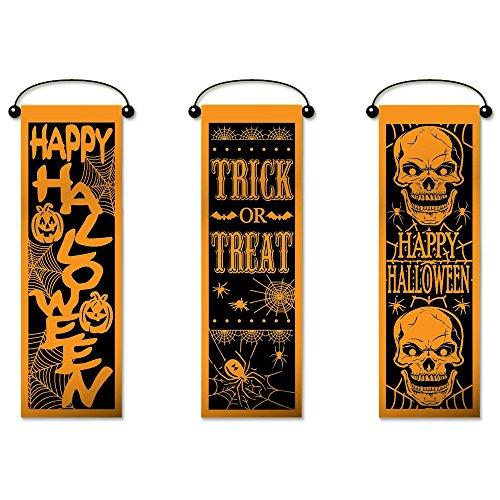 Set of 3 Halloween Wall Banner Decorations (Halloween Man Costume Ideas)