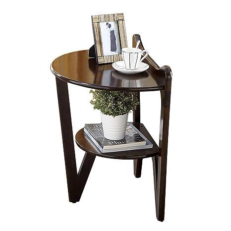 Amazon.com: Mesa de centro pequeña, mesa auxiliar de madera ...