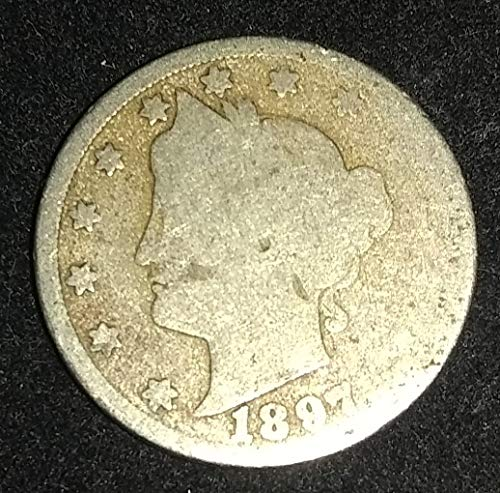 """1897 - U.S. Liberty Head""""V"""" Nickel VG+ American Mint, used for sale  Delivered anywhere in USA"""