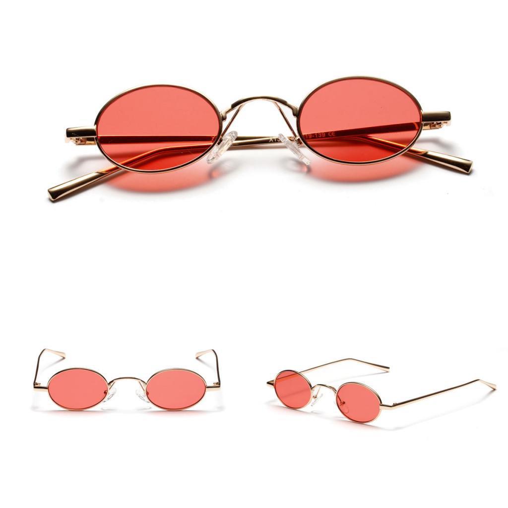 7d08940bca26fb ... MagiDeal Damen Herren Sonnenbrille Oval Kleine Sonnenbrillen  polarisierten Brille Kunststoff UV-Schutz Gläser Linse für ...