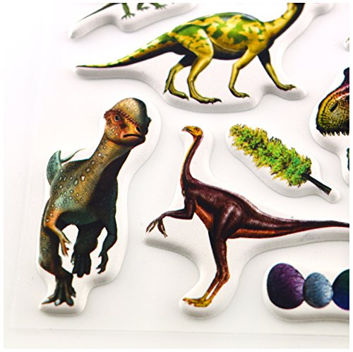 4 Pack Real Dinosaur Generation 3D Puffy Stickers Sheets Stickerworld