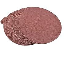 "HQRP 6-Inch 80-Grit 120-Grit 240-Grit Self Stick Sanding Discs for Bosch 1250DEVS 3727DEVS ROS65VC-6 Random Orbit Sander Sandpaper 6"", 30 Pack, 10 Each of 3 Grits"