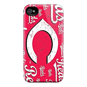 Durable Cell-phone Hard Cover For Iphone 4/4s (pHZ1657RkPH) Support Personal Customs Stylish Cincinnati Reds Skin