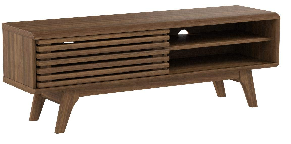 Modway Render Mid-Century Modern Low Profile 48 Inch TV Stand in Walnut by Modway