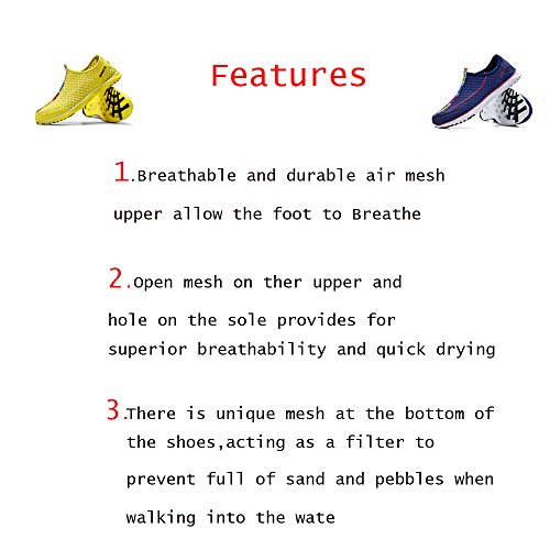 Lightweight Quick Mesh On Shoes Blue Drying Men's Slip Breathable Water xw14n7U