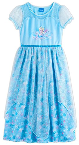 (Disney Princess Frozen Elsa Girls Fantasy Gown, Kids Size 8 )