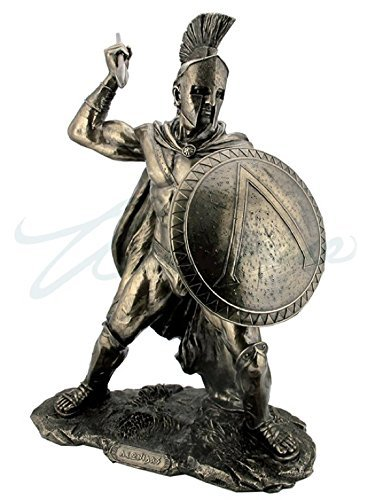 Large Leonidas Spartan King With Spear & Shield Statue Sculpture ()