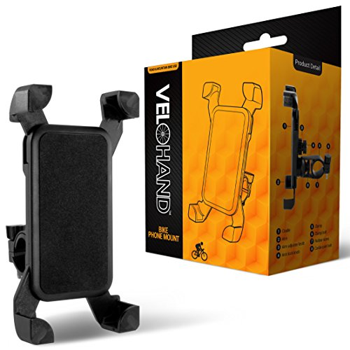 Universal Bike Phone Mount by VeloHand. Bicycle Cell Phone H