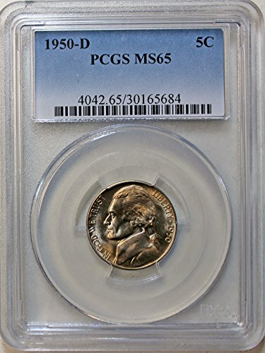 1950 D Jefferson Nickel MS65 PCGS Felix O. Schlag