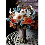 Efavormart-72-Artificial-Daffodil-Flowers-for-DIY-Wedding-Bouquets-Centerpiece-Party-Home-Decorations-12-Bushes-Chocolate-Brown