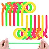 Amor 12 PCS Stretchy String Fidget Toys , Glow in The Dark Monkey Noodles for Kids with ADD , ADHD or Autism