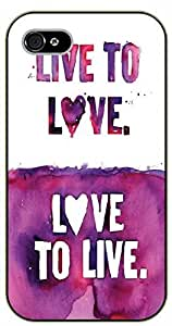 Diy For LG G3 Case Cover Live to love, love to live - black plastic Inspirational and motivational