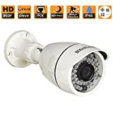 HOSAFE 13MB6P HD IP Camera POE Outdoor 1.3MP 1280x960P Night Vision ONVIF H.264 Motion Detection Email Alert Remote View Via Smart Phone/Tablet/PC, Working With Foscam IP Camera Software Blue Iris iSpy IP Camera DVR(White)
