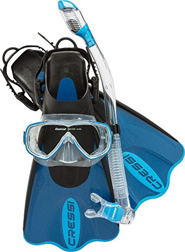 Cressi Light Weight Premium Travel Snorkel Set fo All Family   Palau SAF Set made in Italy