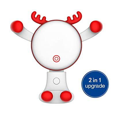 Car Phone Holder, REDSHINE Upgrade Universal Car Mount 2 in 1 Air Vent Car Mount Dashboard Car Mount Gravity Cell Phone Holder for Car for iPhone X 5S 6s 6 Plus 7 Galaxy S8 S9 and More (White)