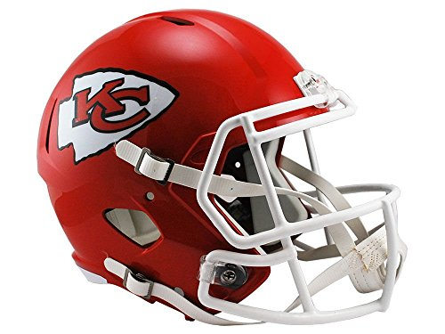(Riddell NFL Kansas City Chiefs Full Size Replica Speed Helmet, Medium, Red)