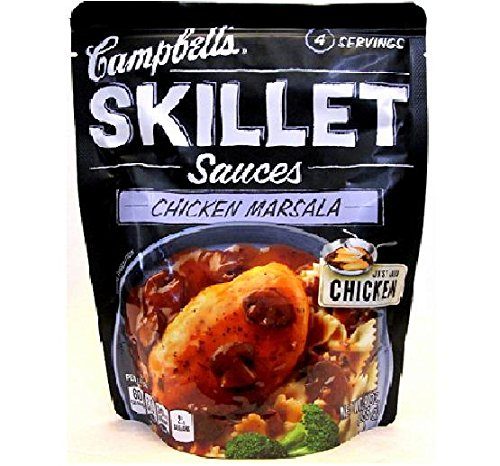 Campbell's Skillet Sauces: Chicken Marsala (2 Pack) 9 oz Bags (Pack 2 Skillet)