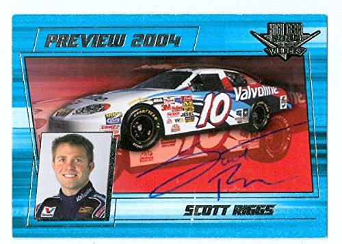 Scott Riggs autographed Trading Card (Auto Racing) High Gear - Autographed NASCAR Cards (Riggs Scott Nascar)