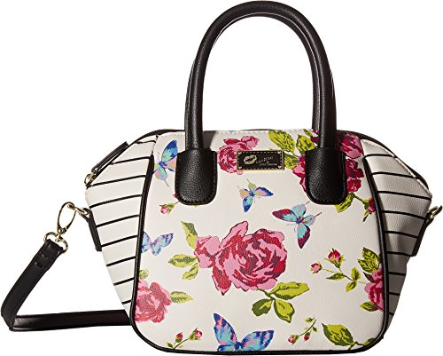 Luv Betsey Women's Quinn Mini Size PVC Satchel White/Raspberry One (Betsey Satchel)