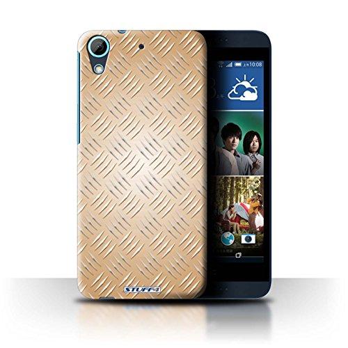 Coque de Stuff4 / Coque pour HTC Desire 626G+ / Or Design / Motif en Métal en Relief Collection