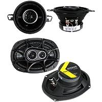 2) Kicker 41DSC354 3.5 80W 2-Way + 2) 41DSC6934 6x9 360W 3-Way Car Speakers
