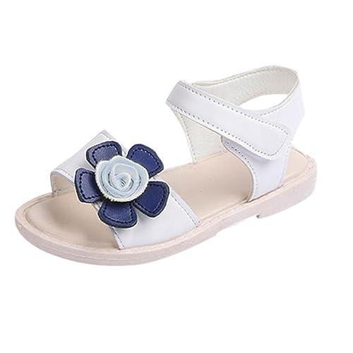 09724212f82e9 Logobeing Sandalias Niña Primeros Zapatos para Niñas Patucos Sandalias de  Princesa Verano Zapatillas Playa  Amazon.es  Zapatos y complementos
