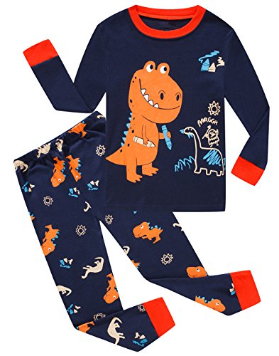 Dolphinboys Boys Pajamas Little Kids Pjs Sets Dinosaur Cotton Toddler Clothes Sleepwears Size 3