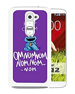 Fashionable Custom Designed Cover Case For LG G2 With Keep Calm Monster Cookie White Phone Case