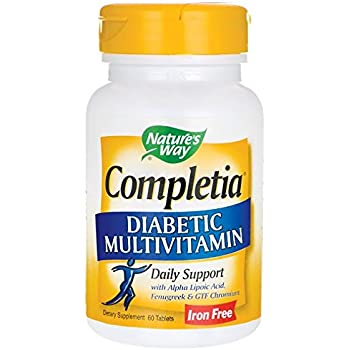 Nature's Way Completia Diabetic Multi-Vitamin 60 Tabs
