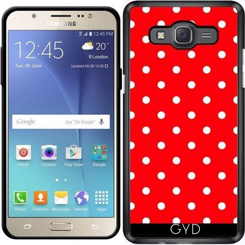 Funda para Samsung Galaxy J7 2016 (SM-J710) - Lunares Rojos by JAMFoto