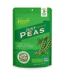 Karen's Naturals Just Tomatoes, Just Peas (8-Ounce ) Large Pouch (Pack of 2) (Packaging May Vary)